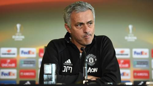 José Mourinho og Manchester United kommer ikke til at holde pressemøde forud for finalen efter terrorangrebene i Manchester. Foto: Ryan Browne/All Over Press