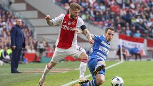 Lasse Schöne kom på tavlen for Ajax, da de vandt 3-1 over Zwolle. Foto: All Over Press