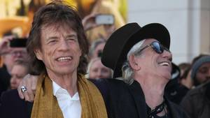 Her ses Mick Jagger med sin 'partner-in-crime' Keith Richars tidligere på året i London. Foto: Joel Ryan/AP