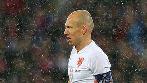 Robben og co skuffede mod Bulgarien. Foto: Alloverpress