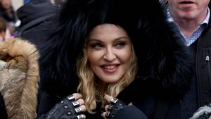 Madonna var med til at protestere i Washington lørdag. Foto: AP