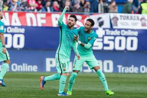 Messi gjorde det onde ved Atletico Madrid til aller sidst. Foto: All Over Press