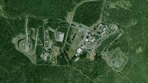 Området omkring Mount Weather set oppefra. Foto: FEMA