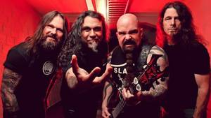 Slayer anno 2017 - fra venstre: Gary Holt, Tom Araya, Kerry King og Paul Bostaph. Foto: Nuclear Blast