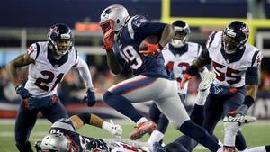 New England Patriots scorer mange point -  og de er da også favoritter mod Pittsburgh Steelers. Foto: AP