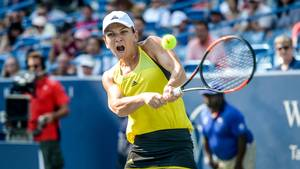 Simona Halep var chanceløs mod Garbiñe Muguruza i finalen i Cincinnati. Foto: All Over Press