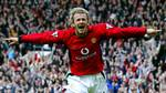 File photo dated March 5 2003 of Manchester United's and England's David Beckham. Manchester United announced on Tuesday June 10 2003 it had agreed a transfer fee with Barcelona for the sale of England captain David Beckham. The deal is subject to a number of conditions including personal terms and Joan Laporta being elected president of Barcelona, United said. (AP Photo/ PA, Phil Noble/ file)