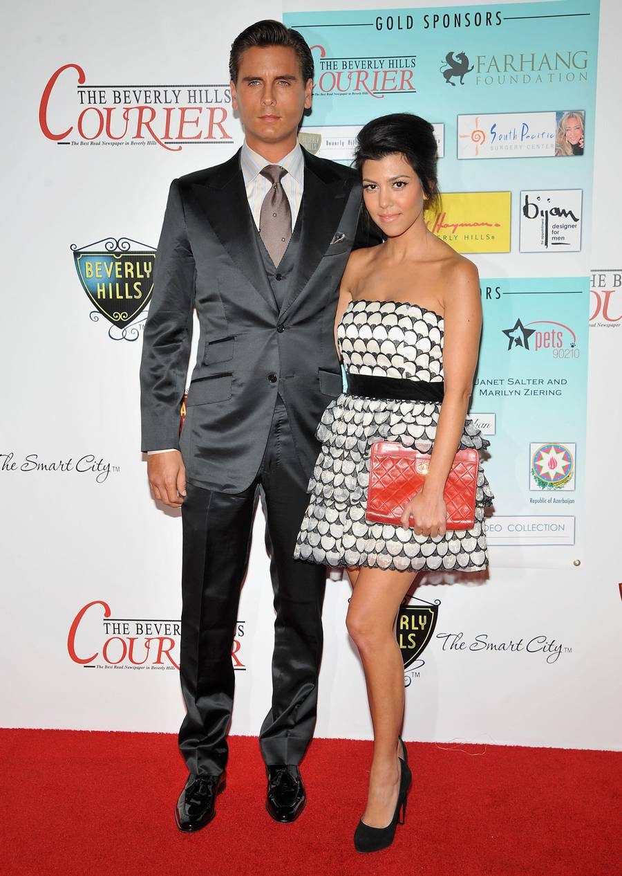 Kourtney Kardashian og Scott Disick dengang de var kærester. (Foto: All Over Press)