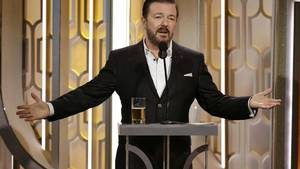 Ricky Gervais som vært for Golden Globe Awards. Foto: AP