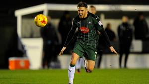 David Goodwillie, der tirsdag kunne kaldes voldtægtsmand, spiller i dag for Plymouth Argyle. Foto: Graham Hunt/All Over Press