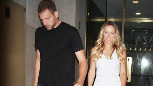 David Lee og Caroline Wozniacki  sammen til The Today Show. Foto: All Over