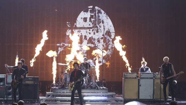 Da Green Day spillede til American Music Awards ved Mirosoft Theater i Los Angeles tilbage i 2016.Foto: Matt Sayles/AP