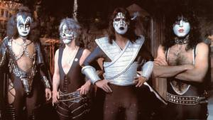 Kiss i stærkeste opstilling anno 1978 - fra venstre: Gene Simmons, Peter Criss, Ace Frehley og Paul Stanley. Foto: All Over