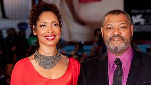 Lawrence Fishburne og Gina Torres dengang alting stadig var perfekt. Foto: All Over Press