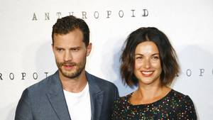 Jamie Dornan og hans kone Amelia Warner har aldrig dyrket S&M-sex lige som han gør i Fifty Shades-filmene i rollen som Christian Grey. (Foto: All over Press)
