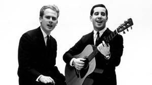 Art Garfunkel (til venstre) og Paul Simon i deres storhedstid. Foto: All Over