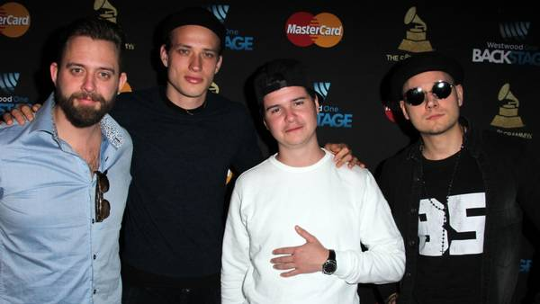 Lukas Graham i Los Angeles midt i februar under et Grammy-relateret arrangement i Staples Center. (Foto: Polfoto)