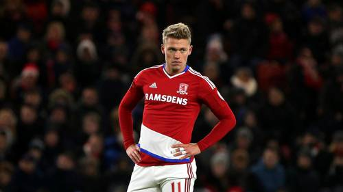 Viktor Fischer i Middlesbrough-trøjen. (Foto: AP)