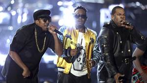 A Tribe Called Quest til Grammy Awards i Los Angeles. Foto: AP