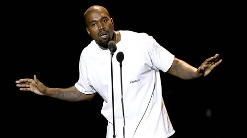 Kanye West til MTV Video Music Awards i New York sidste sommer. Foto: AP