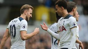 Harry Kane skulle kun bruge 37 minutter på at score hattrick. Foto: All Over Press