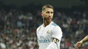 Sergio Ramos var rasende efter Real Madrid onsdag aften overraskende tabte 1-0 på Bernabeu til betis. Foto: All over press