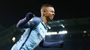 Så glad var Gabriel Jesus. Foto: All Over Press.