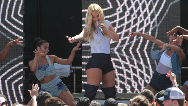 Iggy Azalea i sit rette element. Foto: All Over Press