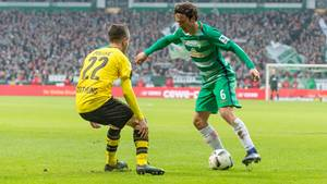 Thomas Delaney og Werder Bremen tabte hjemme til Dortmund. Foto: All Over Press