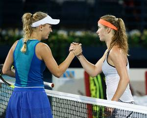Optimismen er intakt hos Caroline Wozniacki trods nederlaget til Elina Svitolina. Foto: All Over Press.