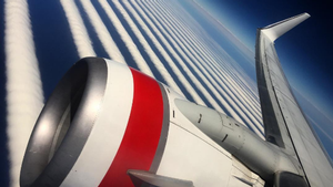 Himlen var stribet. Foto: Virgin Australia