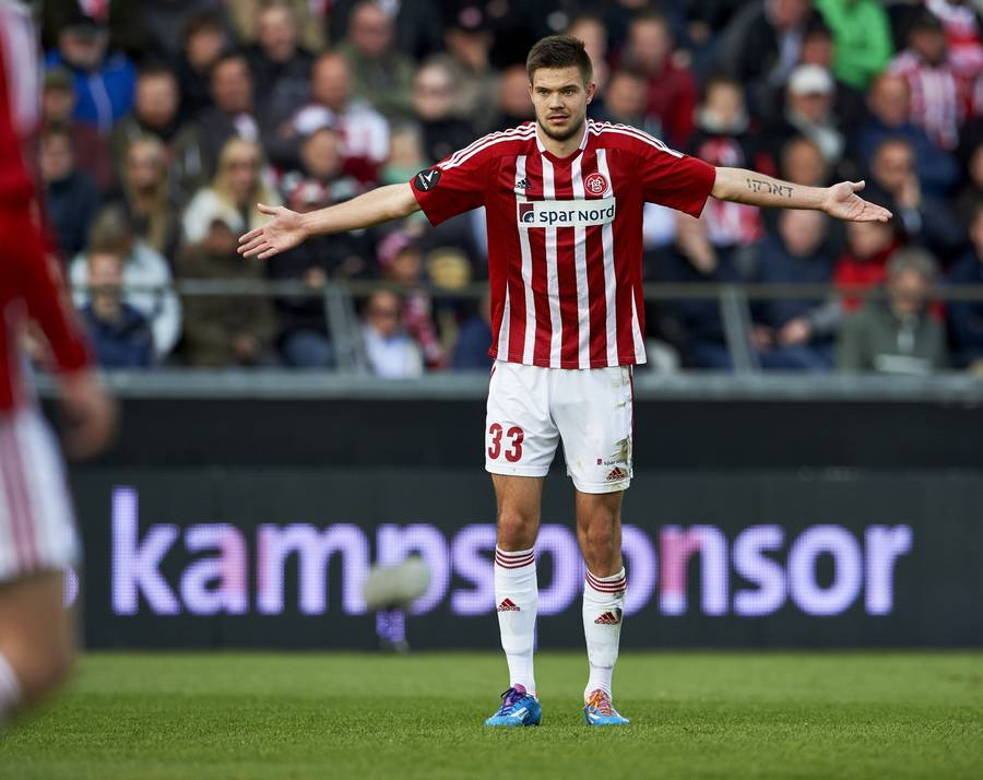 Lukas Spalvis synes tabt for AaB. (Foto: Claus Bonnerup)