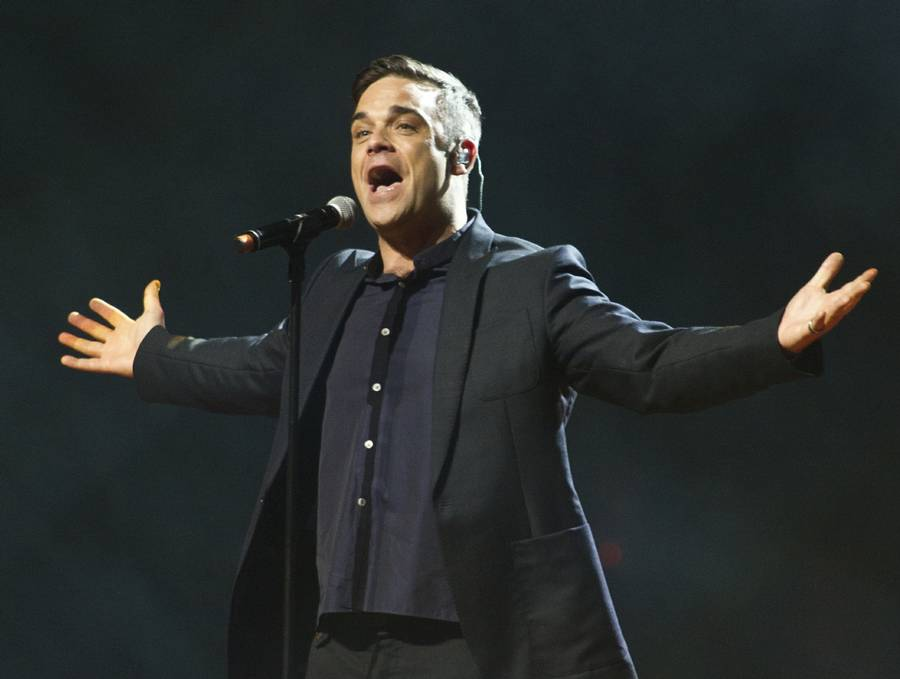 Robbie Williams er en populær herre i Danmark. (Foto: All Over Press).