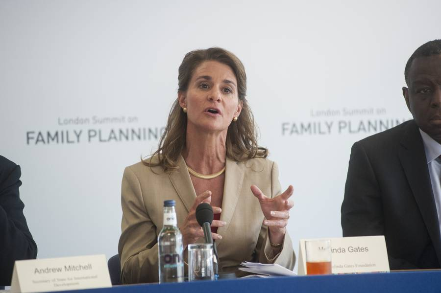 Melinda Gates annoncerede på London Summit on Family Planning at hun vil give milliarder for at sikre nemmere adgang til prævension (Foto: Photoshot)