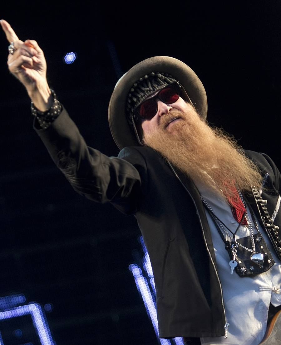 Billy Gibbons - veteranen spillede med flabet flair. (Foto: Mogens Flindt)