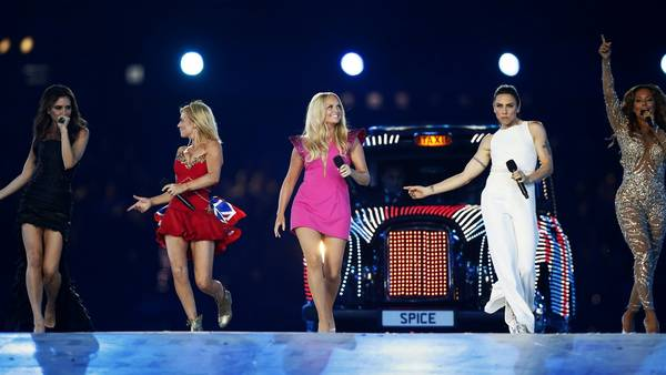 Spice Girls blev gendannet for en aften ved OL's lukning i London. (Foto: Matt Dunham/AP)
