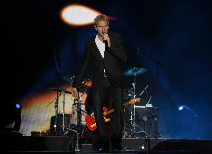 Michael Learns To Rock på scenen i Katmandu for få måneder siden. (Foto: AP)