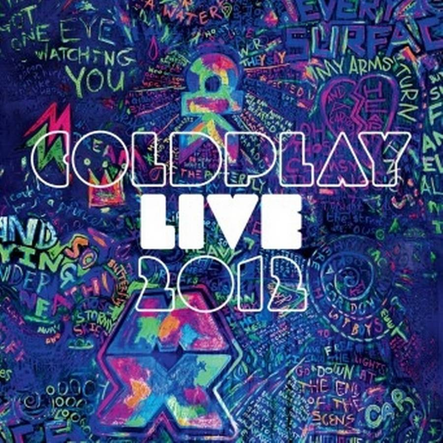 Coveret til Coldplays kommende album, 'Live 2012'.