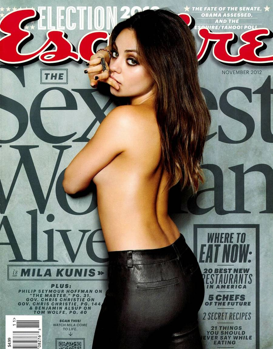 Mila Kunis på coveret af Esquirer. /Planet Photo)