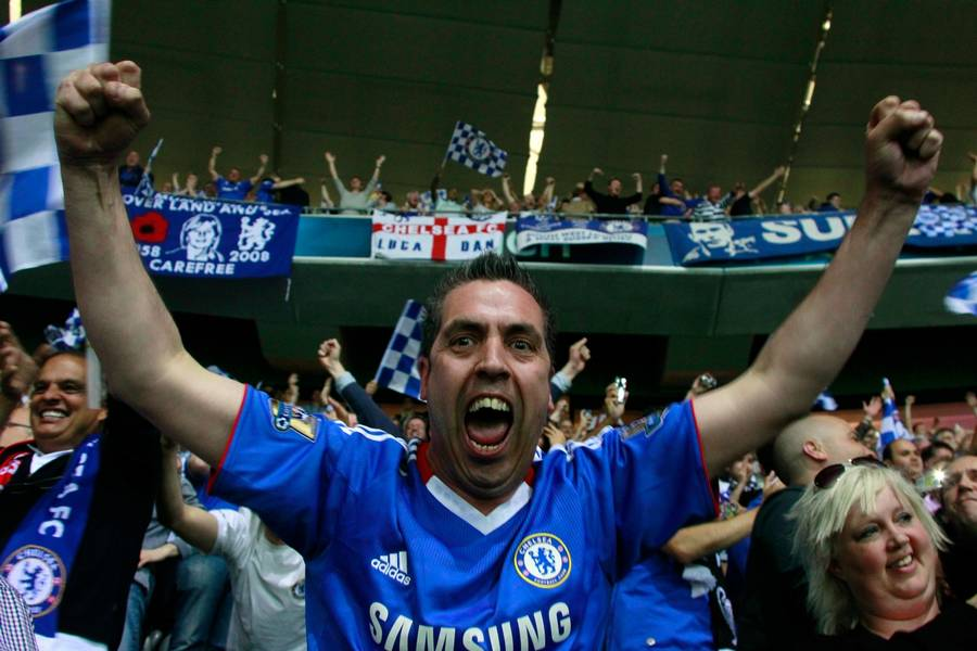 Der er god grund til at juble for Chelseas fans. (Foto: RIA-Archive)