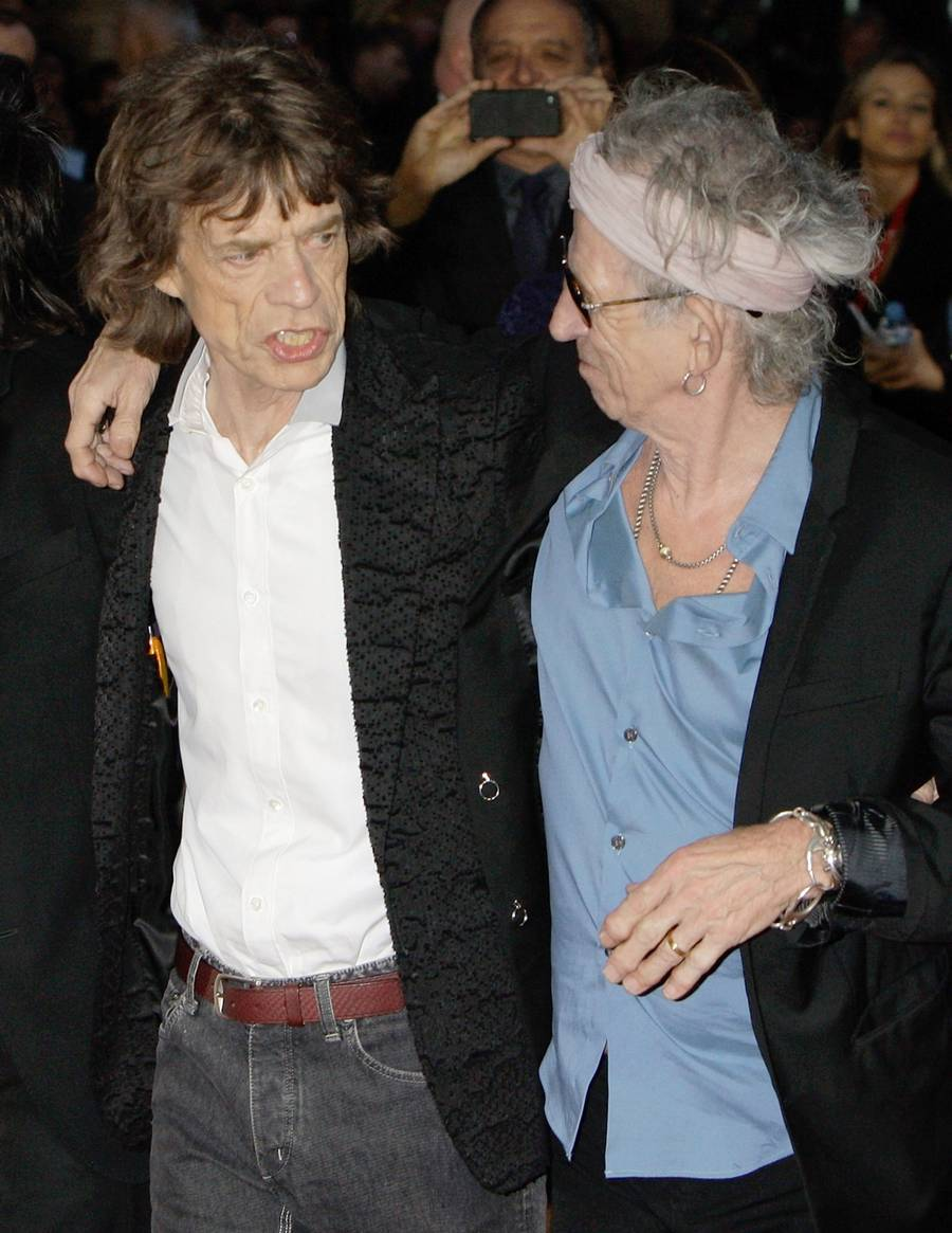 Mick Jagger og Keith Richards - omdrejningspunktet i Rolling Stones. (PA Photos)
