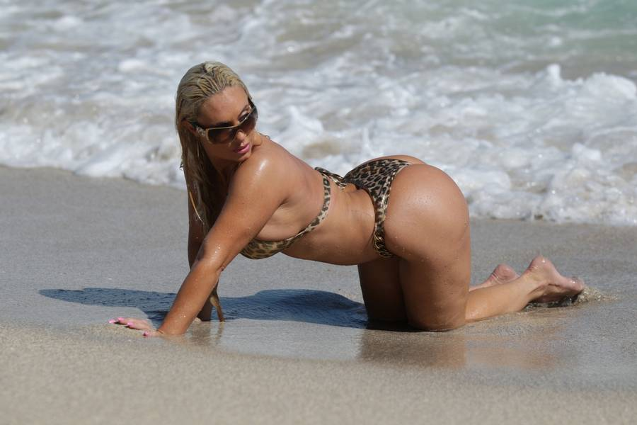 Coco Austin er blevet lun på plastik-boller. (Foto: All Over Press)