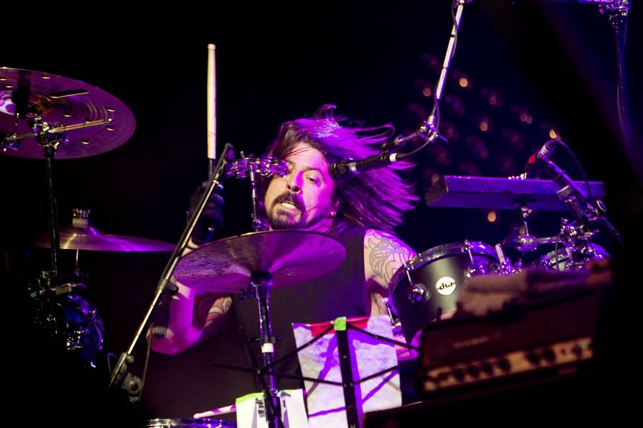 Dave Grohl på Orange med Them Crooked Vultures. (Foto: Thomas Borberg)