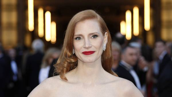 Jessica Chastain spiller Molly Bloom. Foto: AP