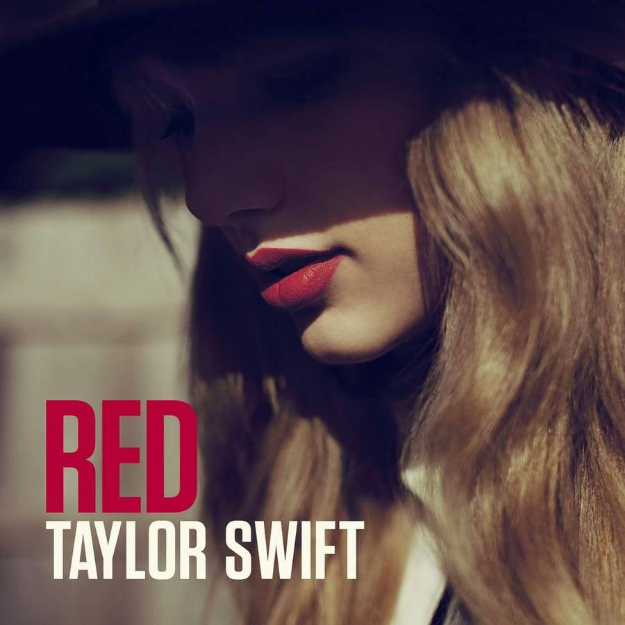 Coveret til Taylor Swifts aktuelle studiealbum, 'Red'.