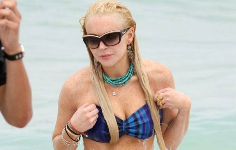 Lindsay Lohan blev ramt af blufærdighed. (Foto: All Over Press)