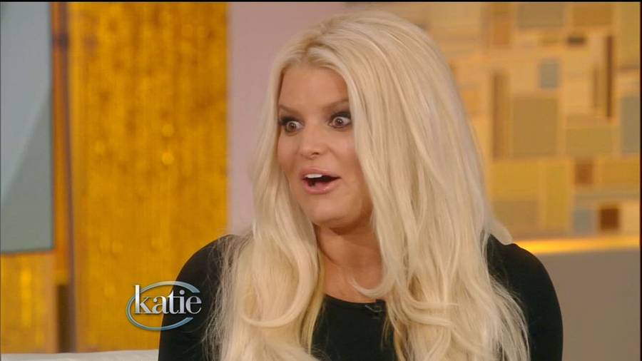 Jessica Simpson i aktion under sin optræden i 'Katie'. (Foto: All Over Press/ABC).