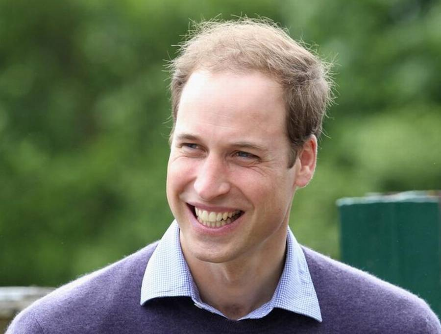 Prins William er allerede ret tynd i toppen. (Foto: All Over Press)