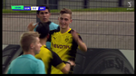 Jacob Bruun Larsen i HOPLA for Dortmund i Youth League - involveret i hele FIRE mål. Foto: TV3 Sport