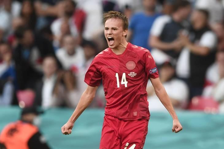 Mikkel Damsgaards mål mod England har gjort ham endnu mere hot. Foto: Lars Poulsen
